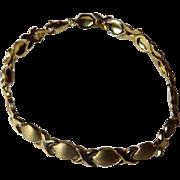 Vintage 10K Hugs & Kisses XO Bracelet