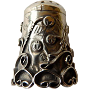 Vintage Sterling Mexico Decorative Thimble