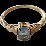 Vintage 10K Yellow Gold Aquamarine Ring