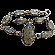 Vintage Sterling Southwestern Agate Bracelet.