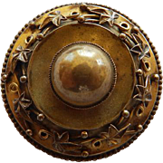 Victorian Etruscan Revival GF Brooch/Pin