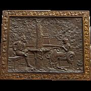 Bradley & Hubbard Bronze Plaque Colonial Revival Style