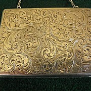 Victorian Sterling Card Case Or Purse