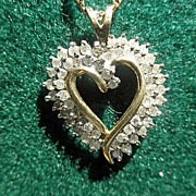 Sweet 10k Diamond Heart on 14K Chain