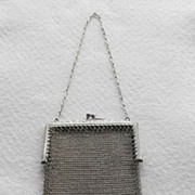 Deco Era Silver Mesh Fringe Purse