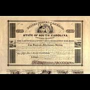 SALE 1838 Louisville Cincinnati & Charleston RR Bond Certificate (Scripophily)