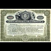 SALE 1916 Reo Motor Car Co Stock Certificate