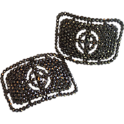SOLD French Cut  Steel Shoe Buckles, Circa 1880