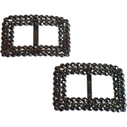Cut-Steel Shoe Buckles  , French , C.1850