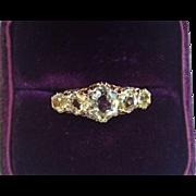 Antique, 14K  Chrysoberl Ring , European C.  1870