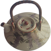 Satsuma Teapot , Miniature Vintage Japanese