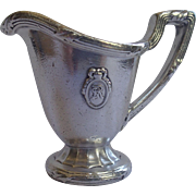 SOLD Hotel Silver Creamer From The St. Regis Hotel , Circa 1910