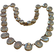 Edwardian Moonstone Reviere Necklace In 15CT