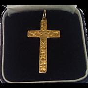 Antique Cross Pendant 15CT. ,  English Circa 1910