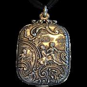 Antique French Silver Slip Locket