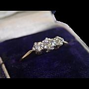 Antique Diamond Ring , 18CT , English Circa 1890