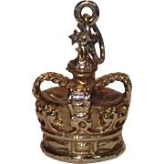 9 CT English Crown Charm Or Pendant