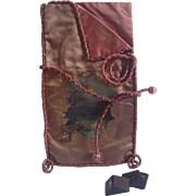 SALE PENDING On Hold For NG ......Antique Silk  Chocolate Bag From Place De L' Opera , Paris F