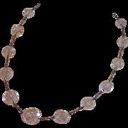 SALE Art Deco Quartz  Rock Crystal & Sterling Necklace