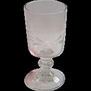 French Souvenir Goblet , Circa 1890