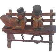 SALE Vintage Italian ANRI Hand Carved Bar Set