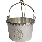 SALE Antique Sterling Tea Basket  Infuser, French , Circa 1900
