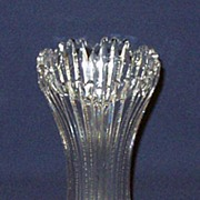 Brilliant Cut Glass Notched Prism Corset Vase