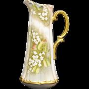 Antique Limoges Tressemann and Vogt Porcelain Tankard/Pitcher – Very Large