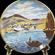 Vintage Commemorative Plate - Pan Am Pioneer Flights Series 1 Plate 6