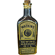 Extremely Rare Watkins Sewing Machine Oil Bottle