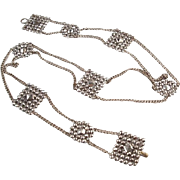 Victorian Cut Steel Buckle Belt Chain