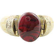 India Bracelet, Carnelian Art Glass, Bone Bangle, Vintage Bracelet, Ethnic Tribal, Repousse ..