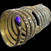 Gypsy Kuchi Bracelet, Vintage Snake Bracelet, Big Long, Afghan Ethnic, Turkoman, Belly Dance,