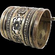 Kuchi Bracelet, Vintage Bracelet, Wide Hinged, Small Wrist, Ornate Ethnic, Turkoman, Gypsy ...