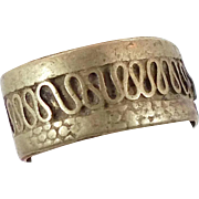 Afghan Ring Band - Vintage Kuchi Tribal Silver - Mens Unisex - Size 8 - InVintageHeaven