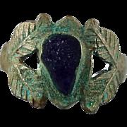 Kuchi Ring, Blue, Heavy Patina, Vintage Ring, Turkomen, Afghan Ethnic, Statement Ring, Size 8,