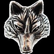 Wolf Ring, Sterling Silver, Vintage Ring, Werewolf, Gothic, Biker Rocker, Detailed Custom, Lar
