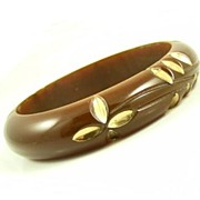 SALE Vintage  Chocolate Bakelite Bangle
