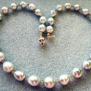 Fabulous Large South Seas Silver Champagne Baroque Pearls With Lavender Tanzanite And Green ..