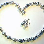 SALE South Sea And Tahitian Pearls Necklace And Earrings