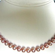 SALE Natural Colour Pink Graduated Pearls Necklace