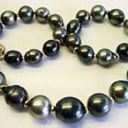SALE Kamoka Pearl Jumbo Tahitian Baroque Pearls And Gold Necklace