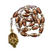 Elegant Goldstone & Gilded Chaplet of St. Anne