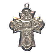 Inspiring 6-Way Cruciform Devotional Medal with Holy Spirit – Hallmarked Sterling