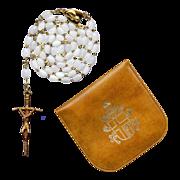 Pristine Vatican Souvenir Rosary with Case