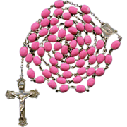 Scarce Victorian Style Hot Pink Rose Petal Rosary – Ecce Homo Center