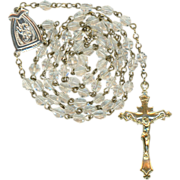 Sparkling St. Anne de Beaupre Rosary and Pouch