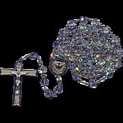 Stylish 1970s Antaya Sterling & Glass Rosary – Holy Spirit Center – 45 Grams