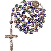 Vintage French Rosary with Enamel & Wirework Beads – Ave Maria Center – NOS