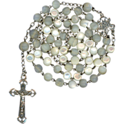 French Art Nouveau Silver & Mother-of-Pearl Rosary- Sweet & Petite